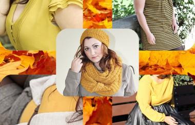 Herbst Zeit ist Senf Farben Zeit