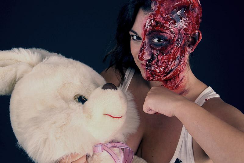 halloween,blutig,make up,verkleidung