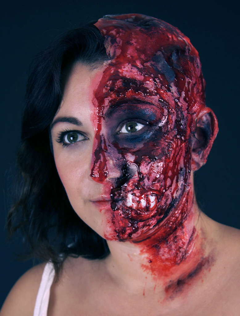 halloween,blutig,make up,verkleidung