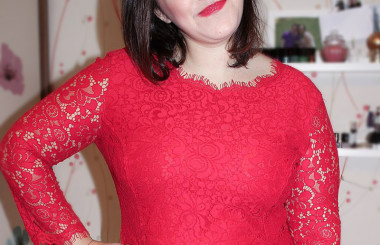 Weihnachts Outfit 2014 Red Dress